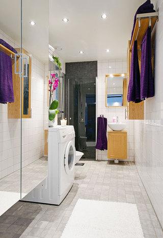 白色卫生间地砖效果图