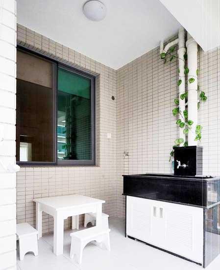 阳台洗手台装修效果图