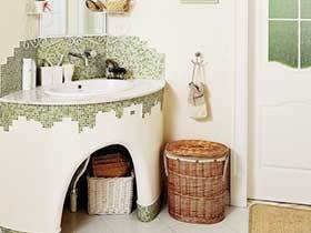 17张砖砌洗手台效果图 个性十足