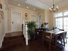 温馨暖调简欧风三居室 保守又低调的设计
