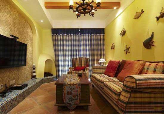 三居室温馨暖色调20万以上130平米效果图