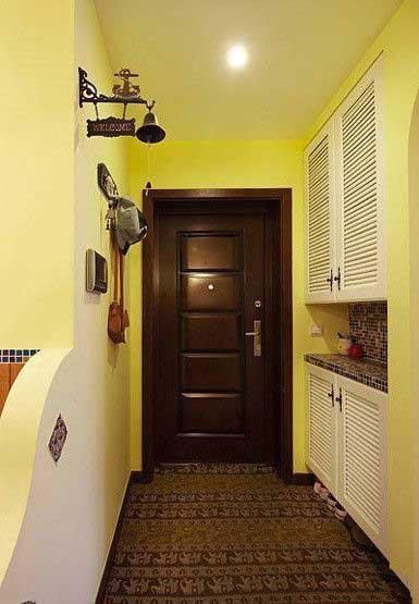 三居室温馨暖色调20万以上130平米玄关装潢