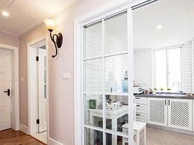 开放式厨房玻璃隔断 15图实用厨房