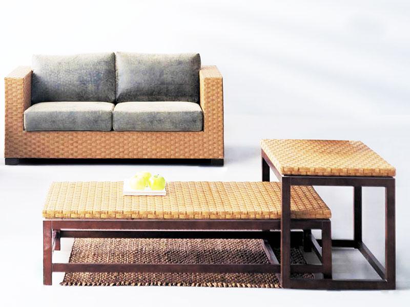 藤艺沙发图片