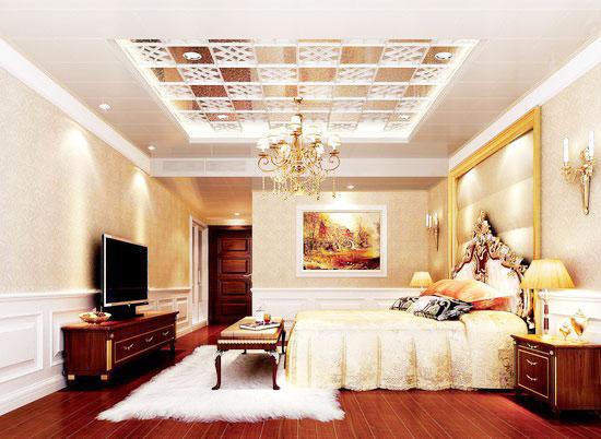 方形卧室吊顶设计图_齐家网装修效果图