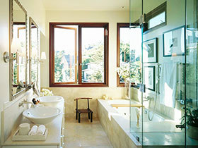 卫生间玻璃隔断设计 20款实用设计