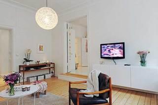 北欧白色电视柜设计效果图