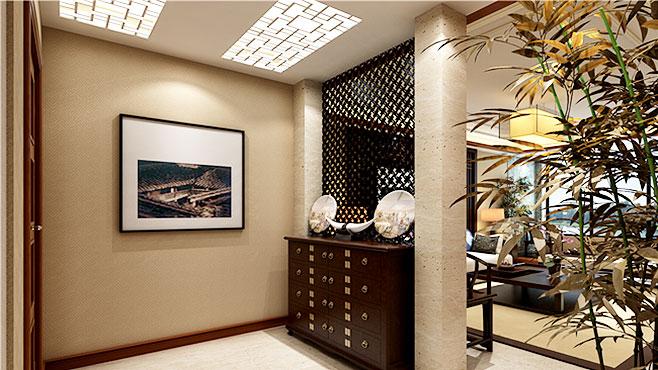 装修设计图客厅 客厅隔断玄关柜图片图片