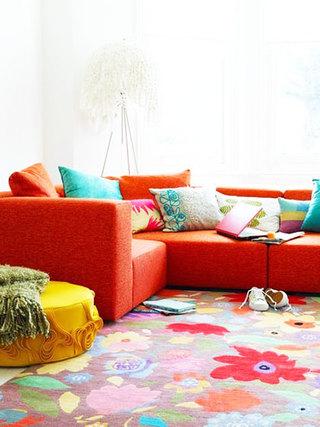 红色家具沙发效果图