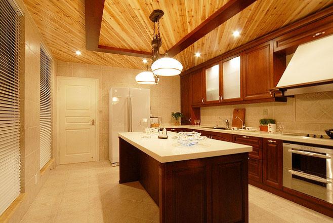 实木厨房吊顶设计图图片