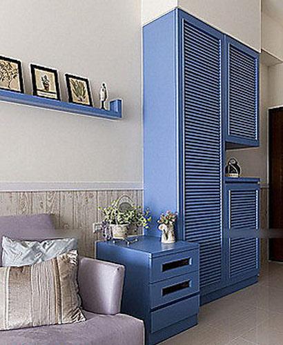 地中海蓝色玄关柜效果图