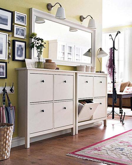 白色玄关鞋柜设计图