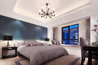 现代简约卧室吊顶效果图