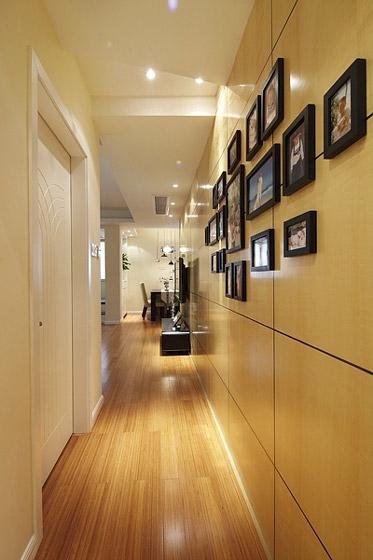 简约照片墙走廊效果图