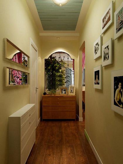 地中海玄关照片墙走廊效果图