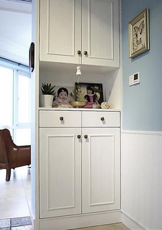 美式白色玄关柜鞋柜效果图