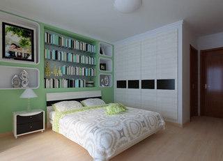 嵌入式卧室衣柜效果图