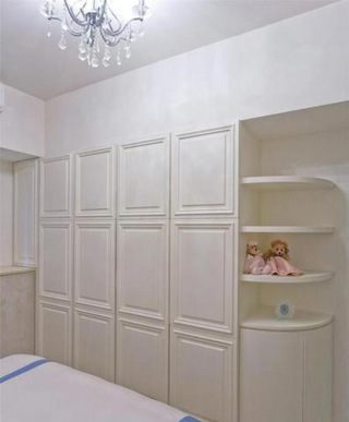 白色整体衣柜效果图