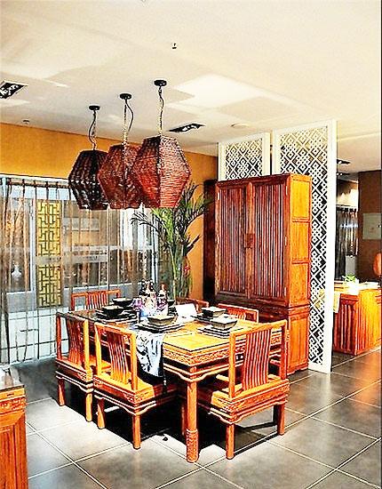 中式风格餐桌效果图