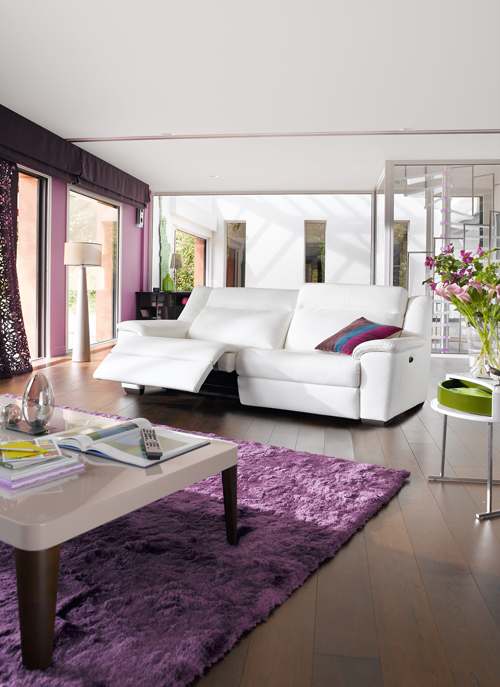 时尚白色客厅沙发沙发图片
