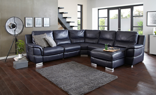 时尚冷色调客厅沙发沙发图片