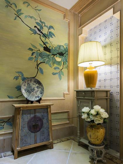 古典中式玄关柜图片