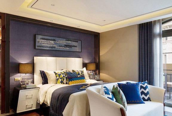 床头软包装修效果图 新古典风格卧室效果图图片