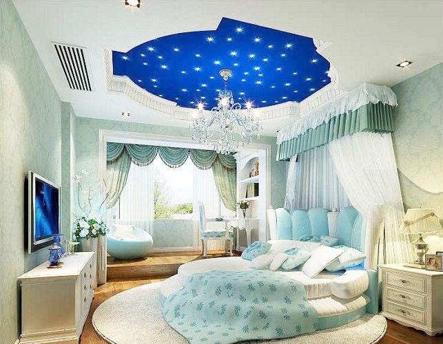 蓝色星空卧室吊顶效果图