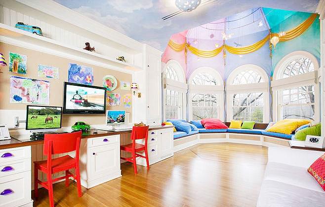 美式儿童房吊顶图片