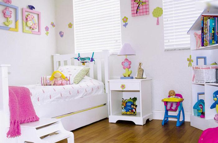 白色儿童床装修效果图