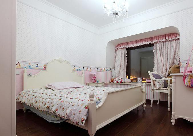 田园白色儿童床装修效果图
