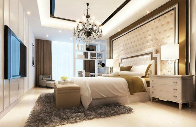 欧式卧室软包背景墙效果图图片