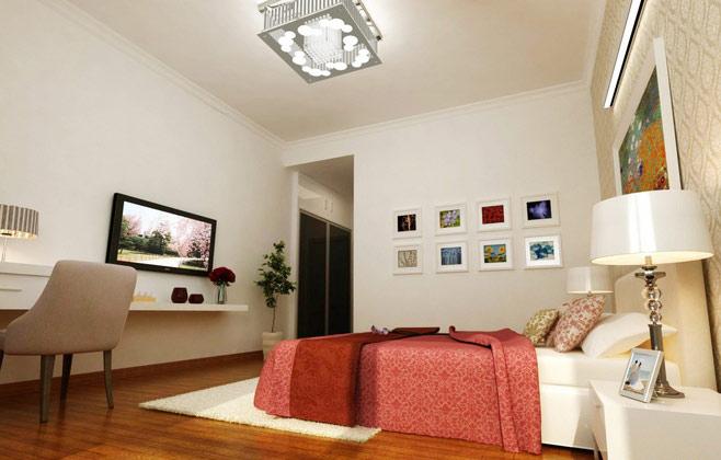 简约卧室电视背景墙效果图