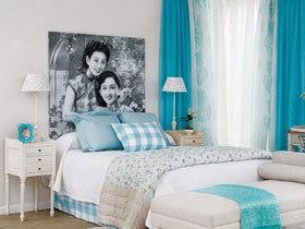 装饰画点缀背景墙 18款卧室背景墙图片