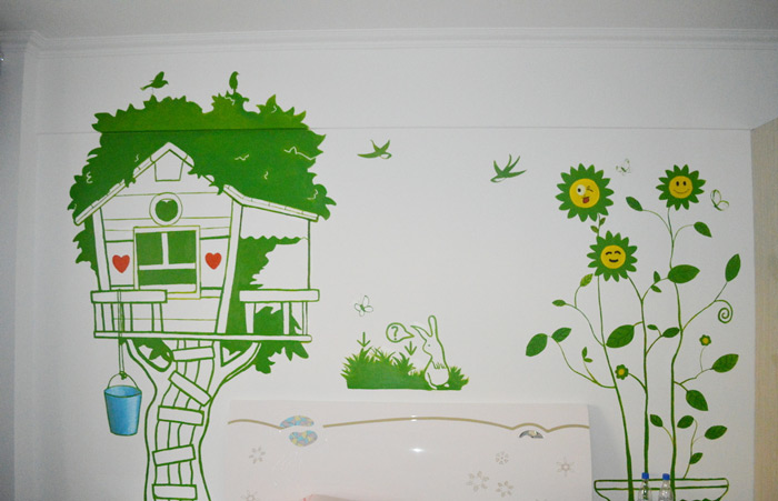 卡通手绘墙装修图片_齐家网装修效果图
