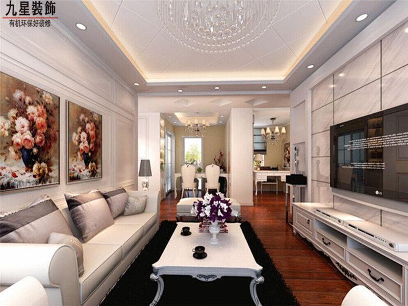 3 5万90平米三居室装修效果图,北城世纪城装修案例效果图 齐家装修网高清图片