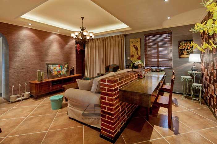 客厅沙发隔断设计效果图高清图片