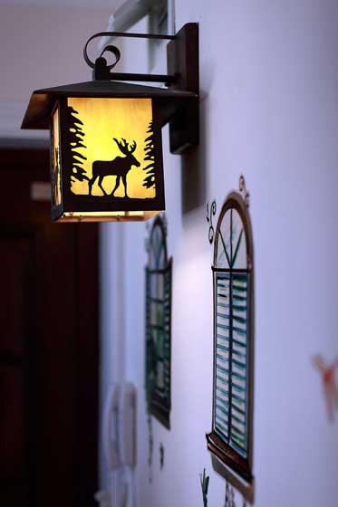 门口阳台灯设计效果图片