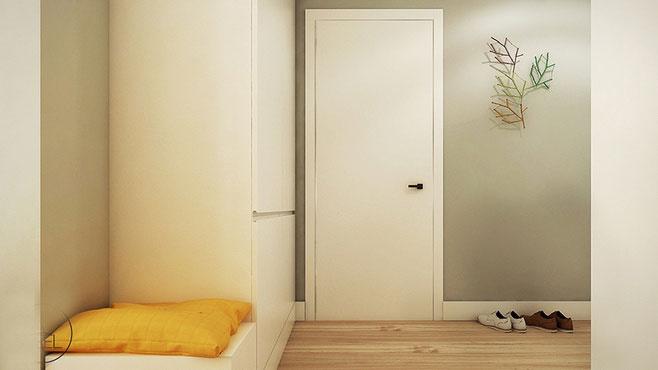 白色木门效果图