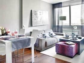 高贵紫遇上冷淡灰 这套北欧风小公寓不简单