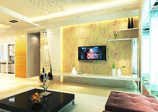 时尚现代简约电视墙壁纸