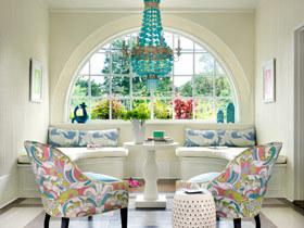 浪漫惬意去处 13图秀美式客厅飘窗