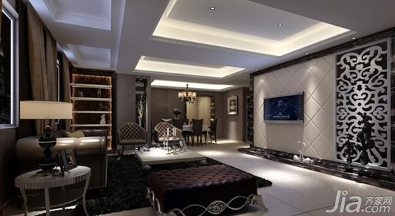 简欧式客厅装修效果图欣赏图片