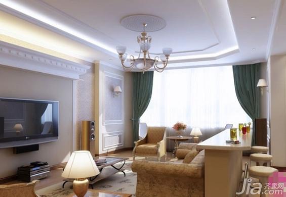 简欧式客厅装修效果图欣赏