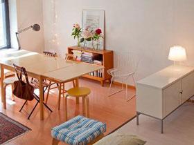 舒适暖调宜家北欧风单身公寓设计