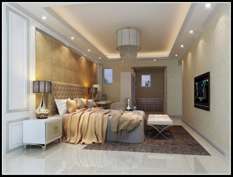 15 20万130平米欧式四居室装修效果图,升禾绿城装修案例效果图 齐高清图片