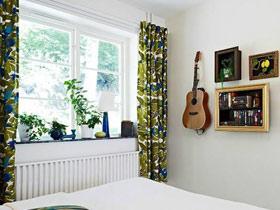 感受春天的气息 4款家居绿色飘窗窗帘