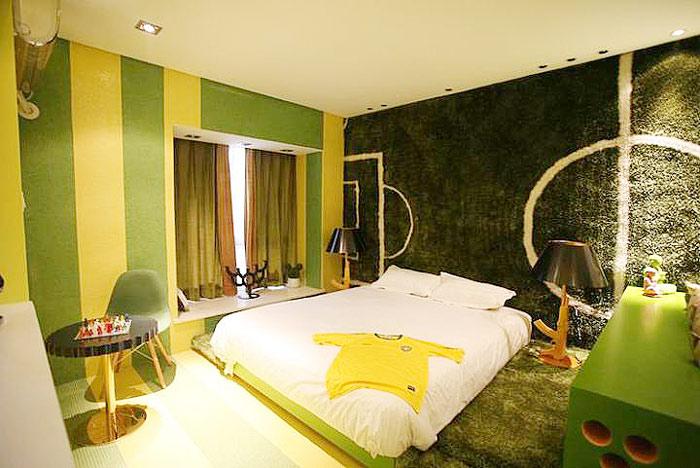 绿色飘窗窗帘效果图