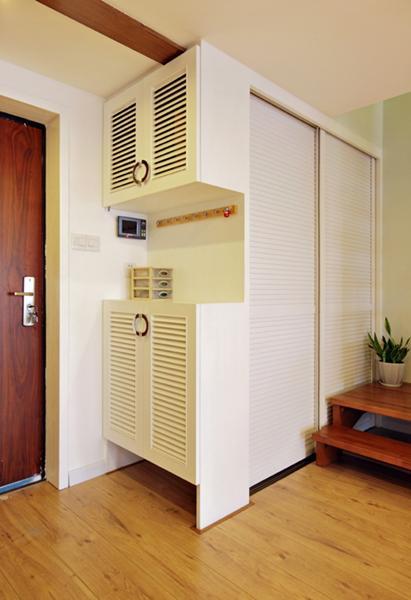 日式风格三居室小清新15-20万100平米玄关设计图纸