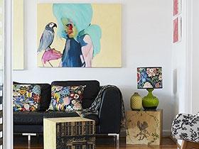 家居中的亮麗風景線 13張客廳裝飾畫圖片
